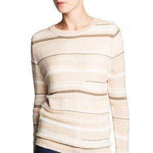 Metallic Detailed Blend Mohair Sweater Mango NWT